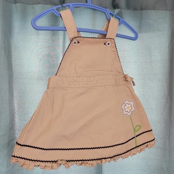 Gymboree 3-6 months khaki overall dress